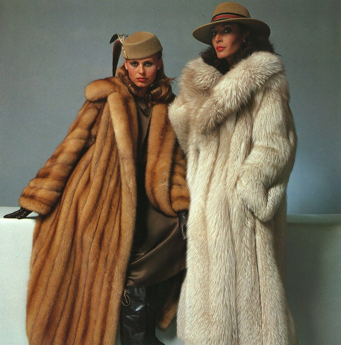 Old Fur Coat Ad..In my wildest dreams, I totally own both of these ...