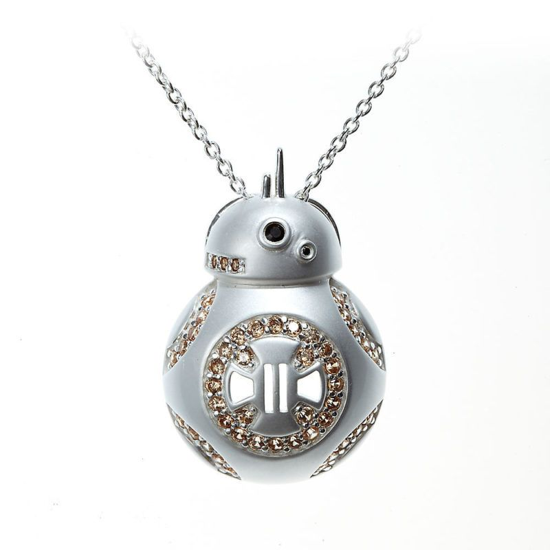 Star Wars Necklace Spinning BB-8 Sterling Silver oC9Qu7ca