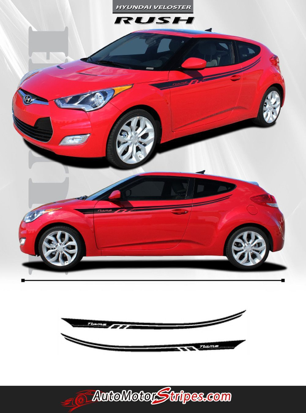 Vehicle Specific Style - Hyundai Veloster Rush Upper Body Accent Door Panel Vinyl Graphic Stripe Decals  sc 1 st  Pinterest & 2011-2017 Hyundai Veloster Rush Upper Body Accent Door Panel Vinyl ...