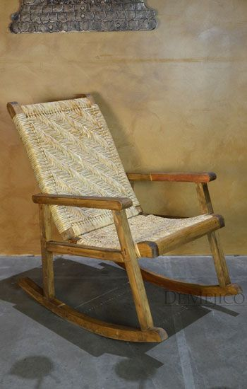 In Stock Spanish Style Furniture Wicker Rocking Chair Spanish Chairs