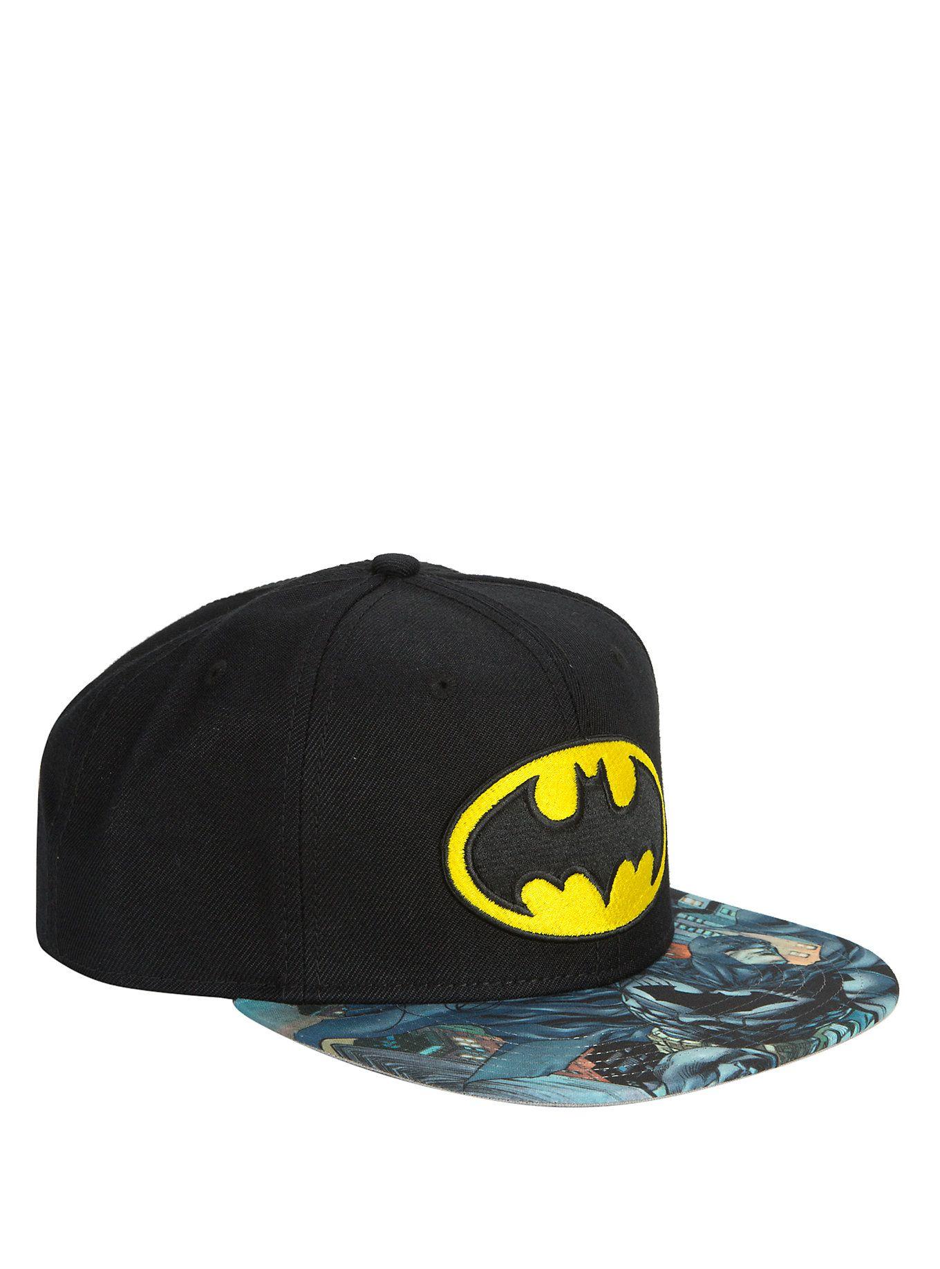 b3863c43d0de8 DC Comics Batman Logo Sublimation Bill Snapback Hat
