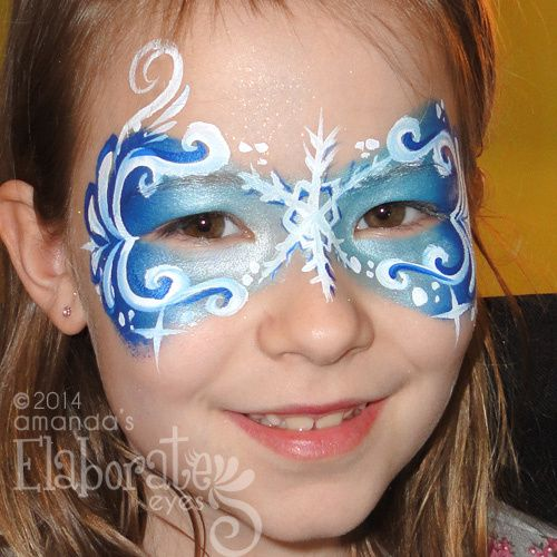 Image result for snowflake face painting ideas