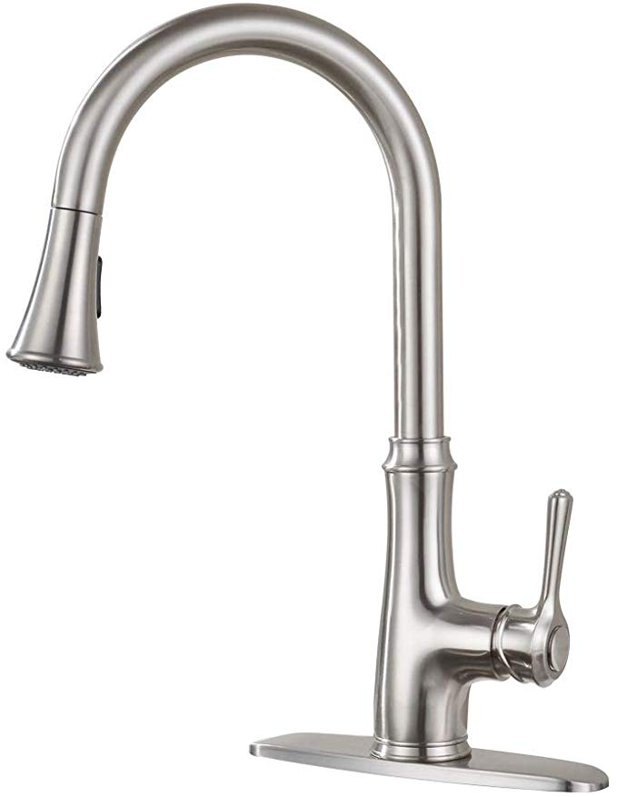 Kitchen Faucet Pull Down Sprayer Wewe A1008l Stainless Steel