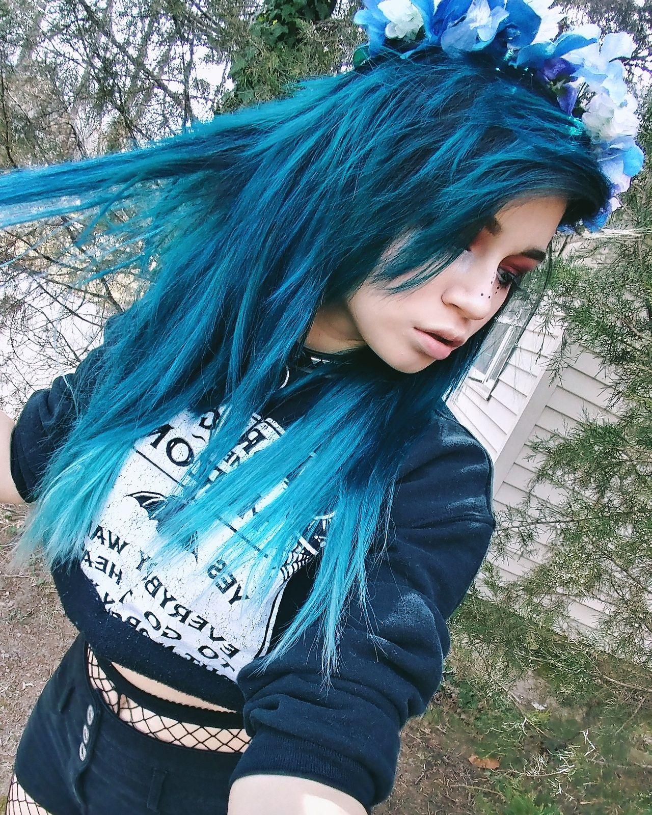 Like roses we blossom then die magical hair colors - Emo rose pictures ...
