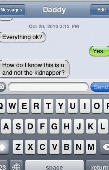 funny dad iPhone text message