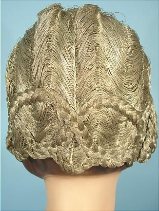 """1920's RARE French Silver Bullion """"Hair"""" Cloche Labeled """"Ideal, PARIS""""! The ULTIMATE Flapper Cloche or Flapper Headpiece! I"""