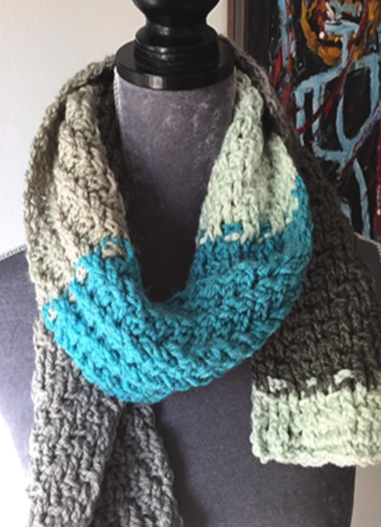 Knitting Cake Tutorial : Crochet caron cakes woven scarf tutorial scarfs