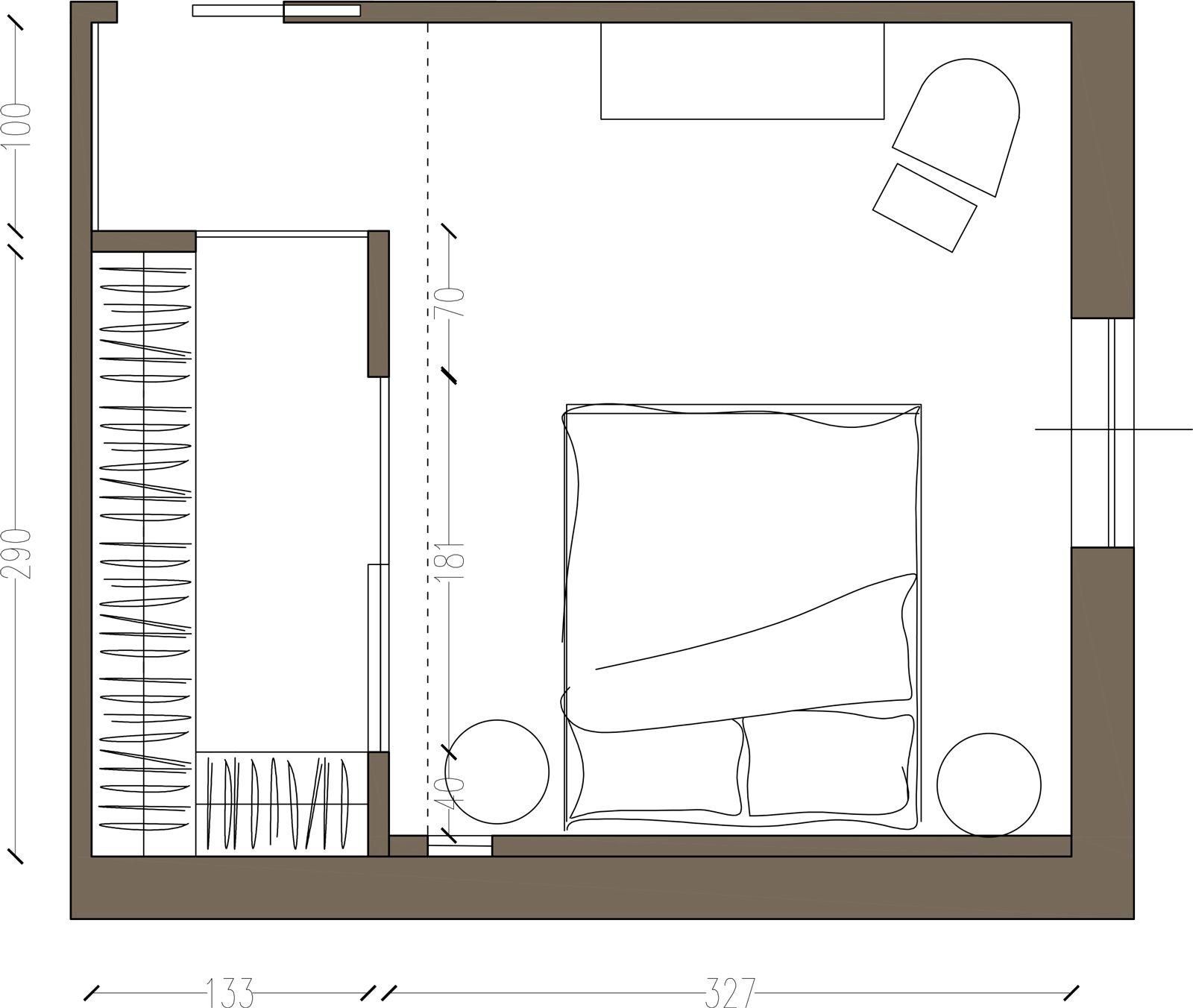 Due soluzioni per avere in camera la cabina armadio ampia e comoda sfruttata su due lati - Progetti cabine armadio ...