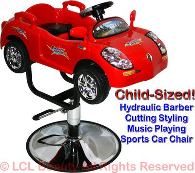 Fabulous Children Race Car Hydraulic Child Barber Chair Styling Bralicious Painted Fabric Chair Ideas Braliciousco