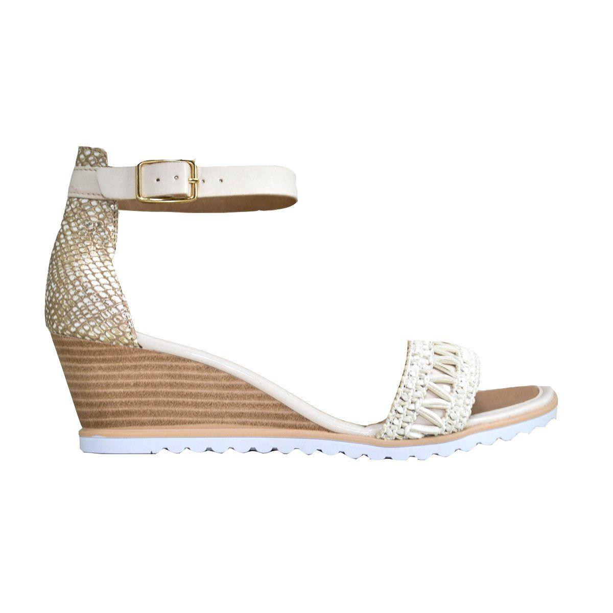 Compre online Sandália anabela tratorada da Ramarim 178205 coleção  tendências da moda verão 2018