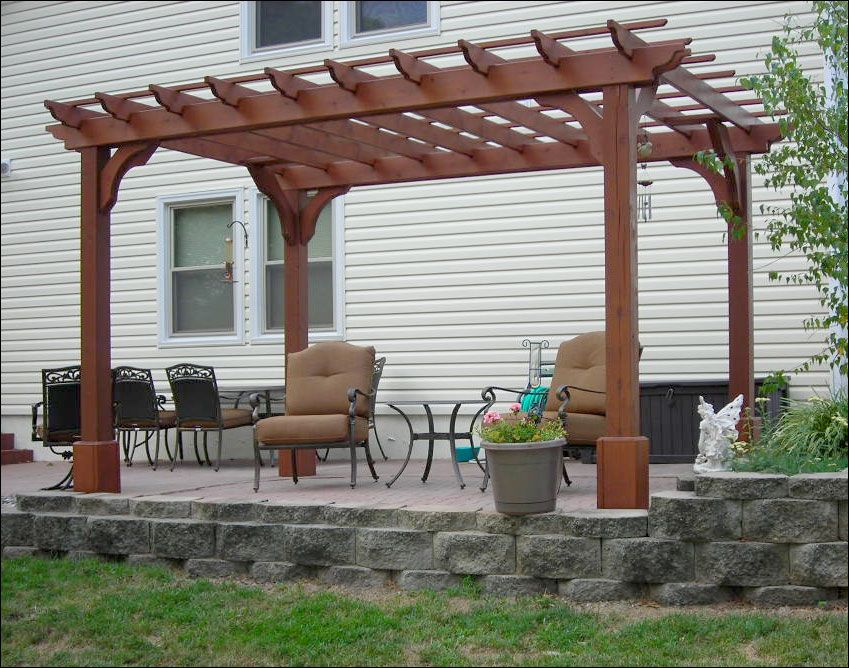 Customer S Photo 8 X 12 Cedar 2 Beam Pergola Free Standing Pergola Pergola Pergola Designs