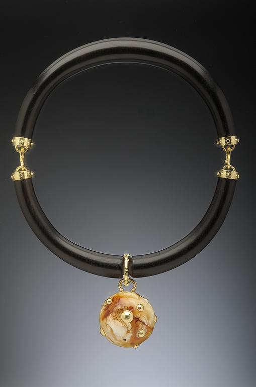 Ebony choker and baltic amber pendant in 18k hughes bosca jewelry ebony choker and baltic amber pendant in 18k hughes bosca jewelry aloadofball Gallery