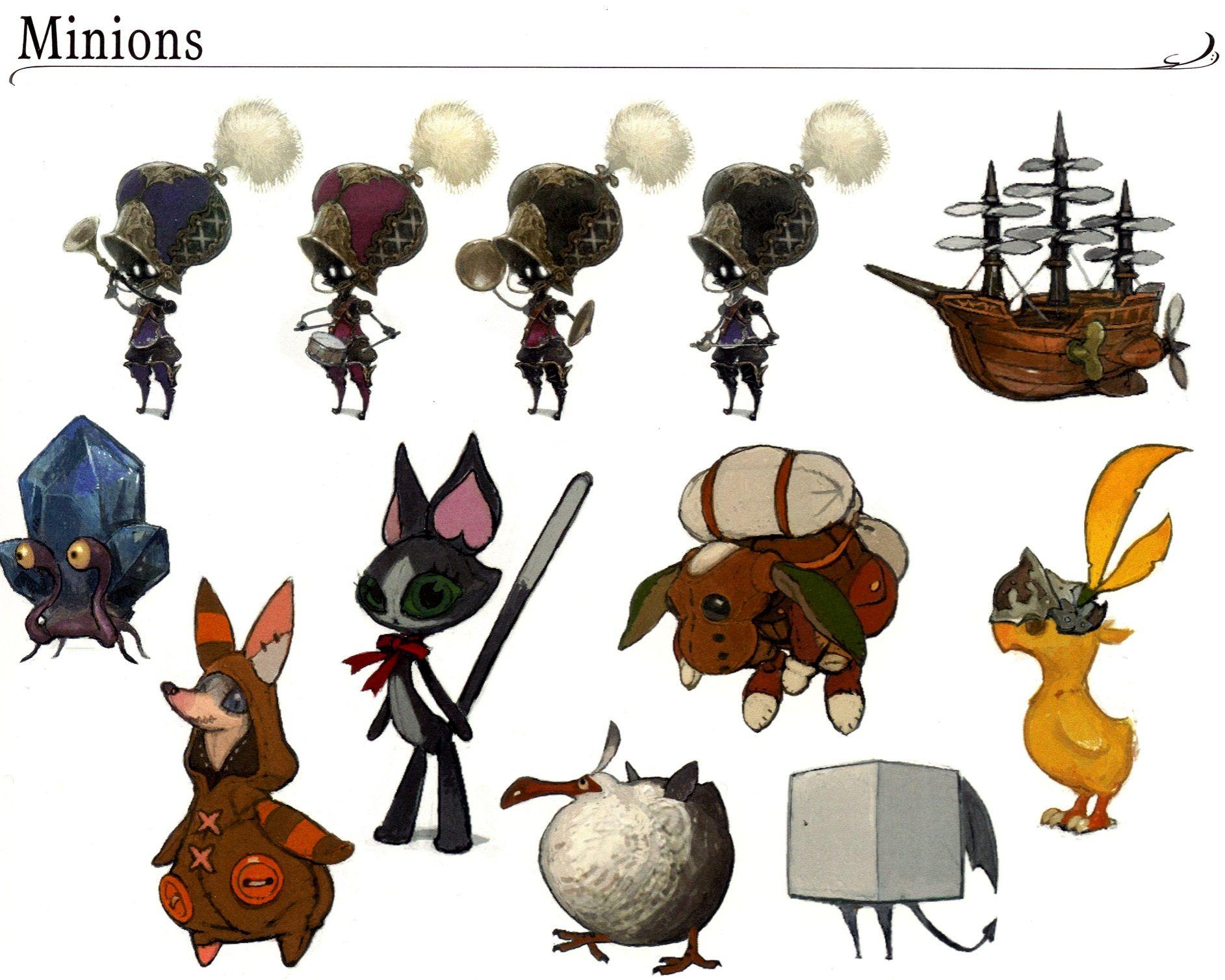 FFXIV Minions | concept art | Final fantasy, Final fantasy