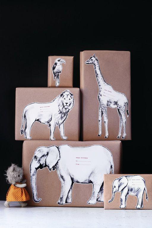 Safari Animal Gift Tags - http://www.sweetpaulmag.com/crafts/safari-animal-gift-tags #sweetpaul