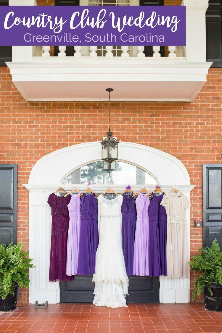 Dani sam purpleinspired country club wedding in greenville