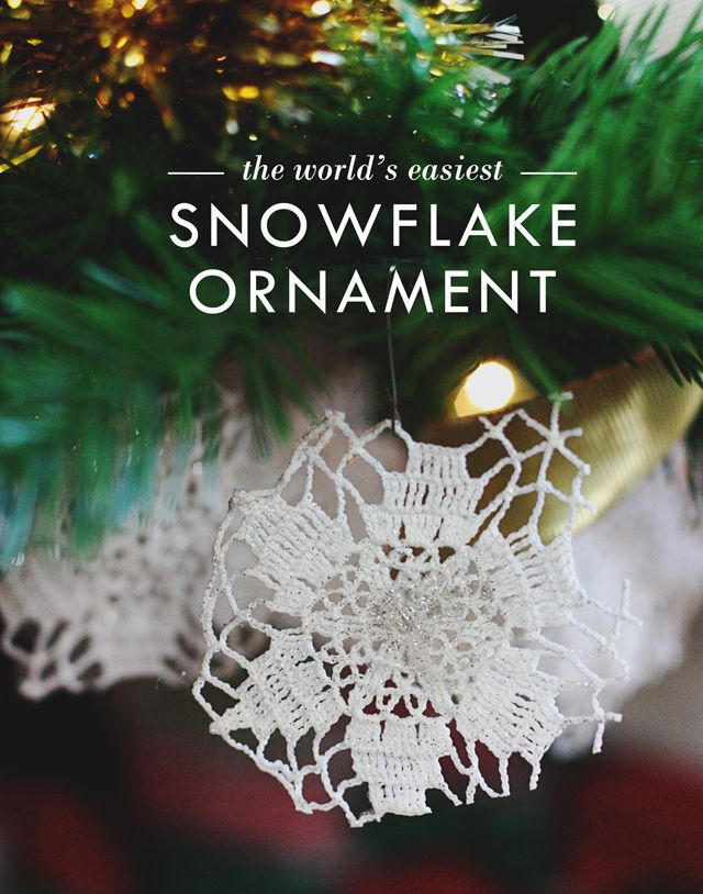 Free DIY The World\'s Easiest Snowflake Ornaments