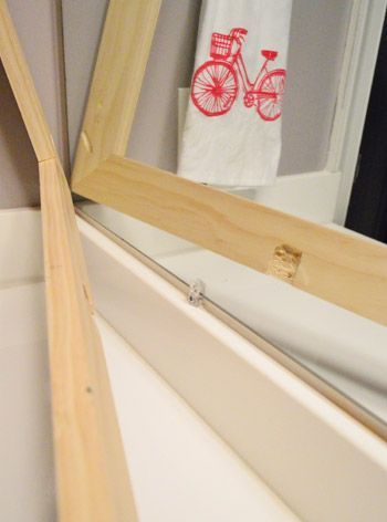 How To Build A Wood Frame Around A Bathroom Mirror Drywall, Change
