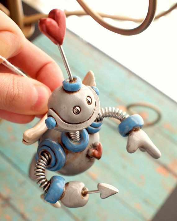 Valentine's Day Robot Cupid Carl Hanging by RobotsAreAwesome, $40.00