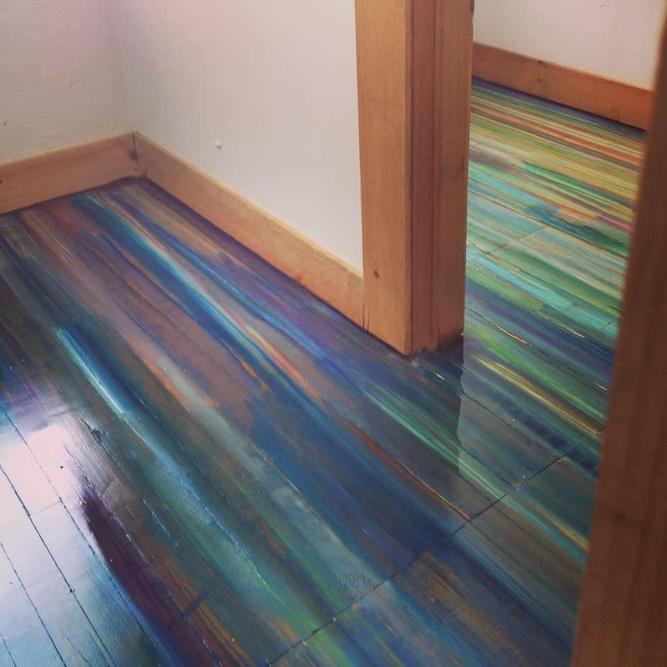 I Painted An Old Wood Floor Covered In