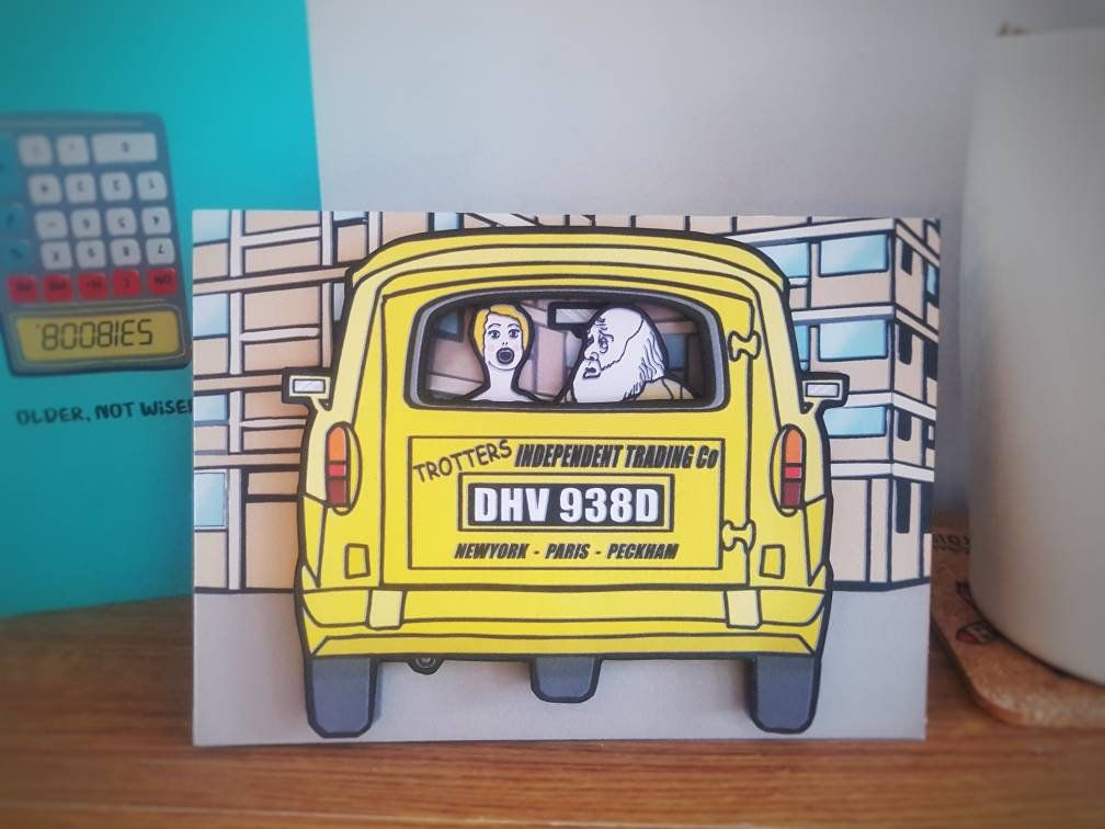 Only Fools And Horses Inspired Handmade 3d Greeting Card Etsy Only Fools And Horses Fools And Horses Greeting Cards