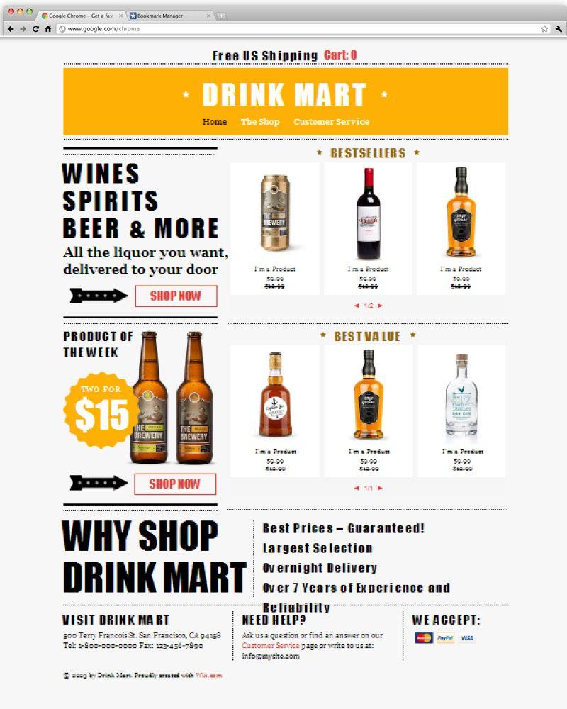 Liquor Store Template Liquor store, Liquor, Website template