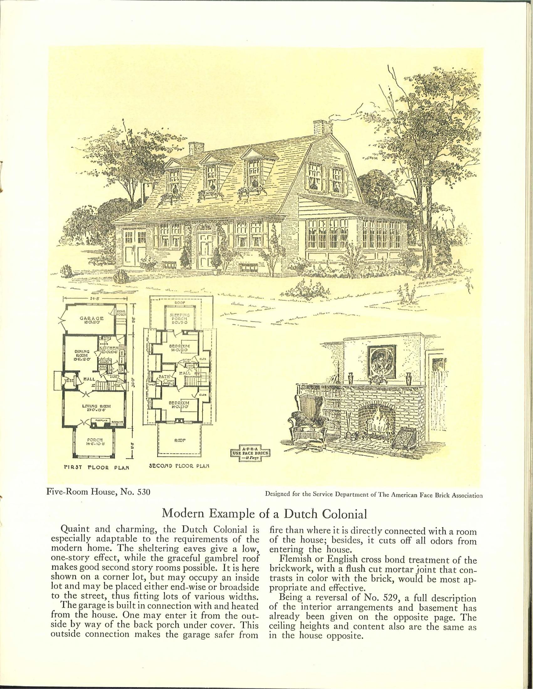 Five Room Face Brick Bungalow And Small House P Classic Small