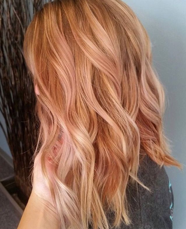 Light Copper With Blond Baggage And All Over Rose Gold Trendy