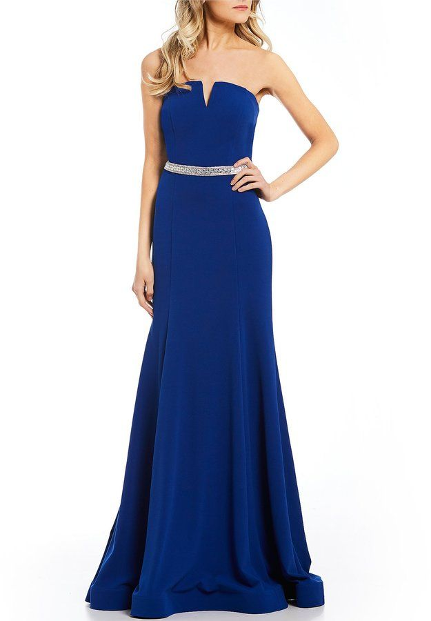 3bd43d405a3 Coya Collection Strapless Long Dress in 2019