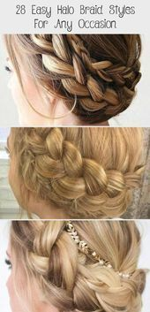 28 Easy Halo Braid Styles For Any Occasion - Hair Styles  Character Inspiration    Reece is the cocky, hot big man on campus and he's just stumbled up...#big #braid #campus #character #cocky #easy #hair #halo #hes #hot #inspiration #man #occasion #reece #stumbled #styles