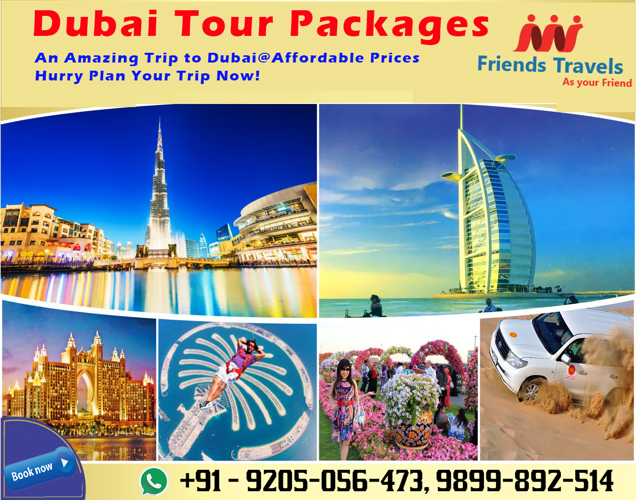 Book Dubai Tour Packages From Delhi. DubaiTour