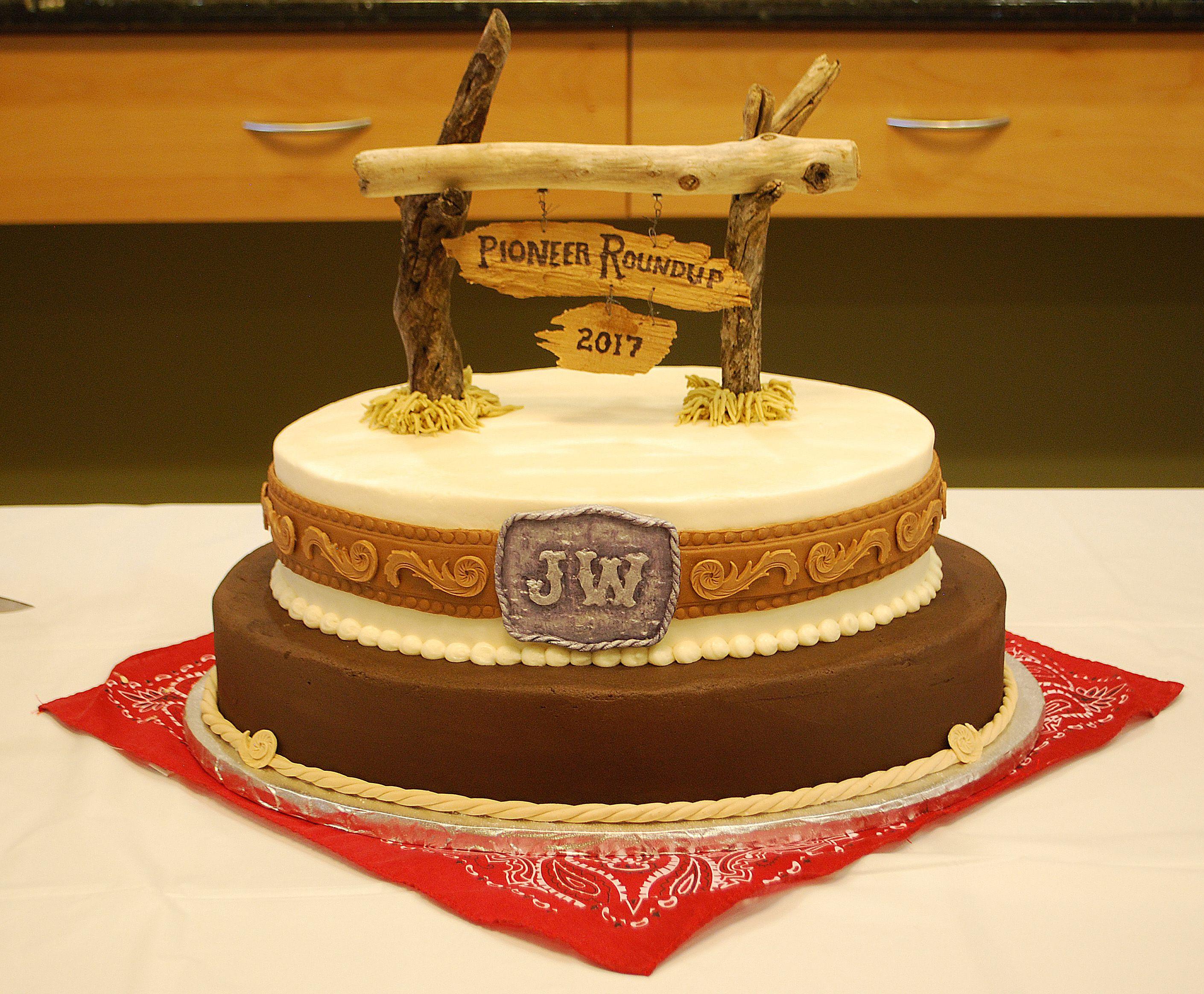 Western Themed Pioneer School Cake