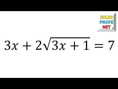 Ecuaciones Con Radicales Ejercicio 7 Youtube Blog De Matematicas Curiosidades Matematicas Matematicas Faciles