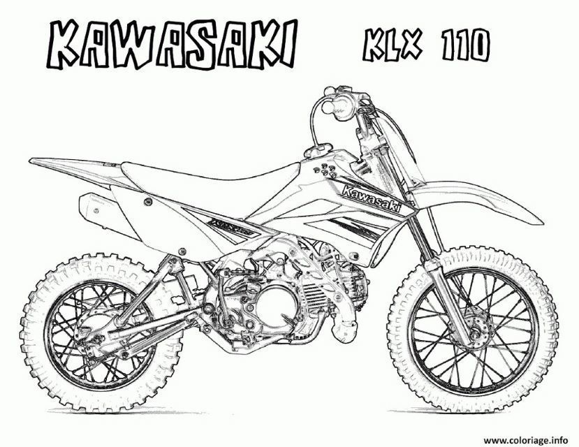 Coloriage Moto Cross Kawasaki Cars Coloring Pages Coloring