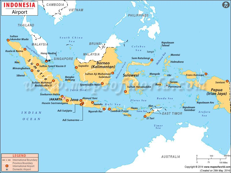 List and map of airports across Indonesia  BALI and Indonesia