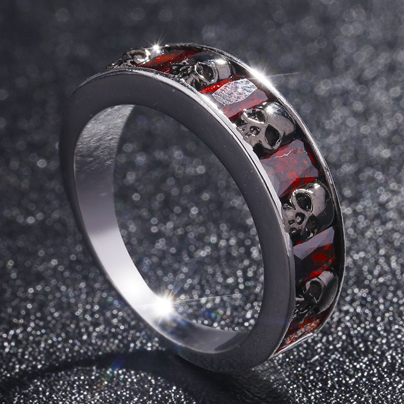 Women Men Vintage Punk Skull Ring Gothic Cool Men/'s Band Rings Fashion Jewelry