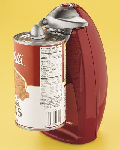 Compact Electric Countertop Chrome Red Can Opener Can Opener
