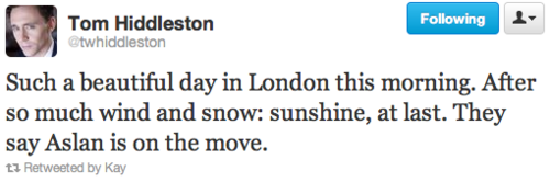 This is a great reason to love Tom Hiddleston!