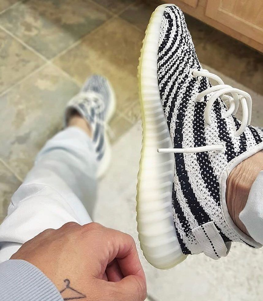 Yeezy Sneakers On Instagram Are Zebras The Best V2s Pic Via