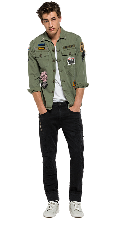 3edd22c0244 Military jacket with patch. Military jacket with patch Cargo Shirts ...