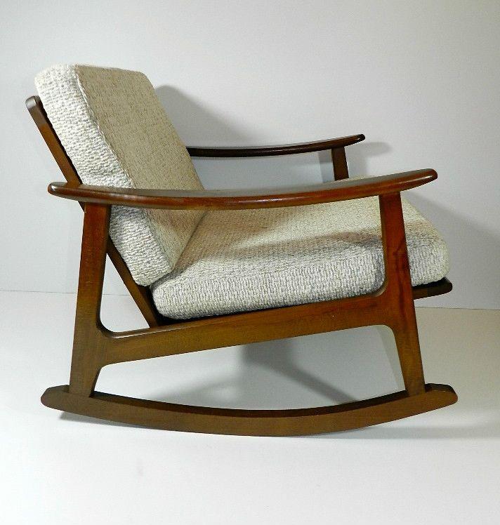 Amazing Danish Mid Century Mod Blond Rocking Chair Eames Era Blond Lamtechconsult Wood Chair Design Ideas Lamtechconsultcom