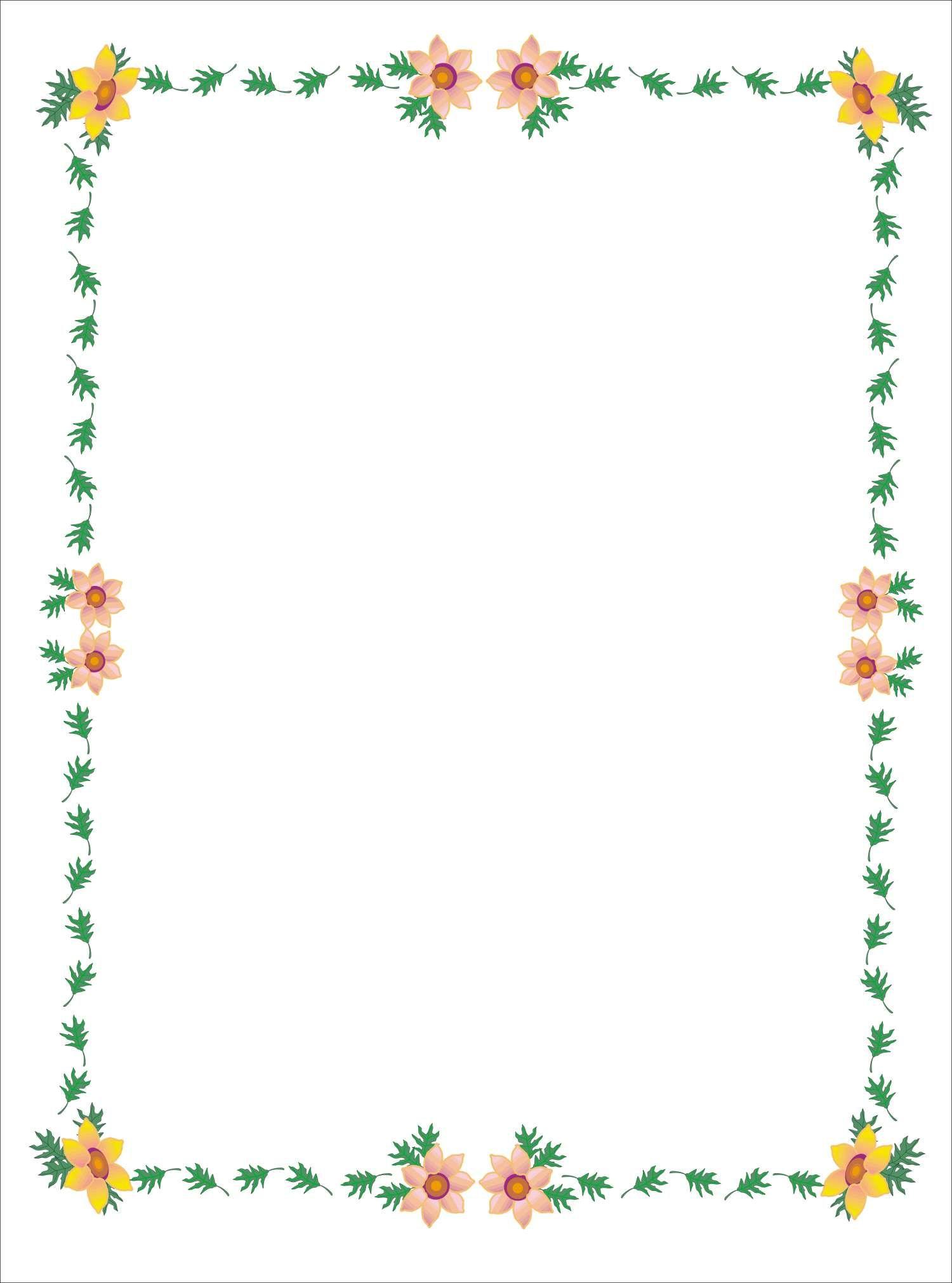 Pin de i t en borders frames flowers pinterest - Marcos decorados ...