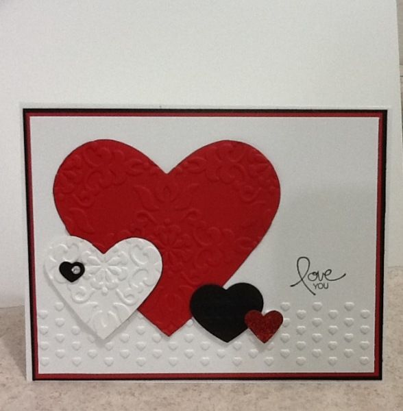 P S I Love You Handmade Card With Images Valentine Cards