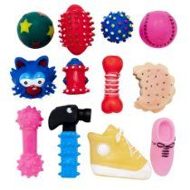 Regent Products 66833p Small Vinyl Dog Toy Assorted Colors 12
