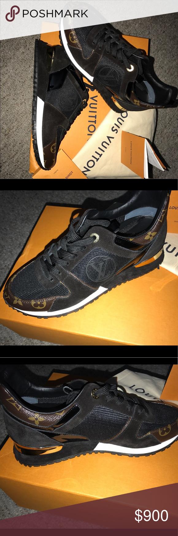 24a8ec47e0a7 LOUIS VUITTON RUN AWAY BLACK WOMENS SNEAKERS Louis Vuitton sneakers Louis  Vuitton Shoes Athletic Shoes