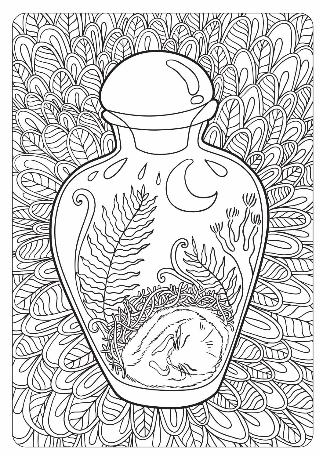The Tales Of Old Forest Free Anti Stress Coloring Book For Adult And Children