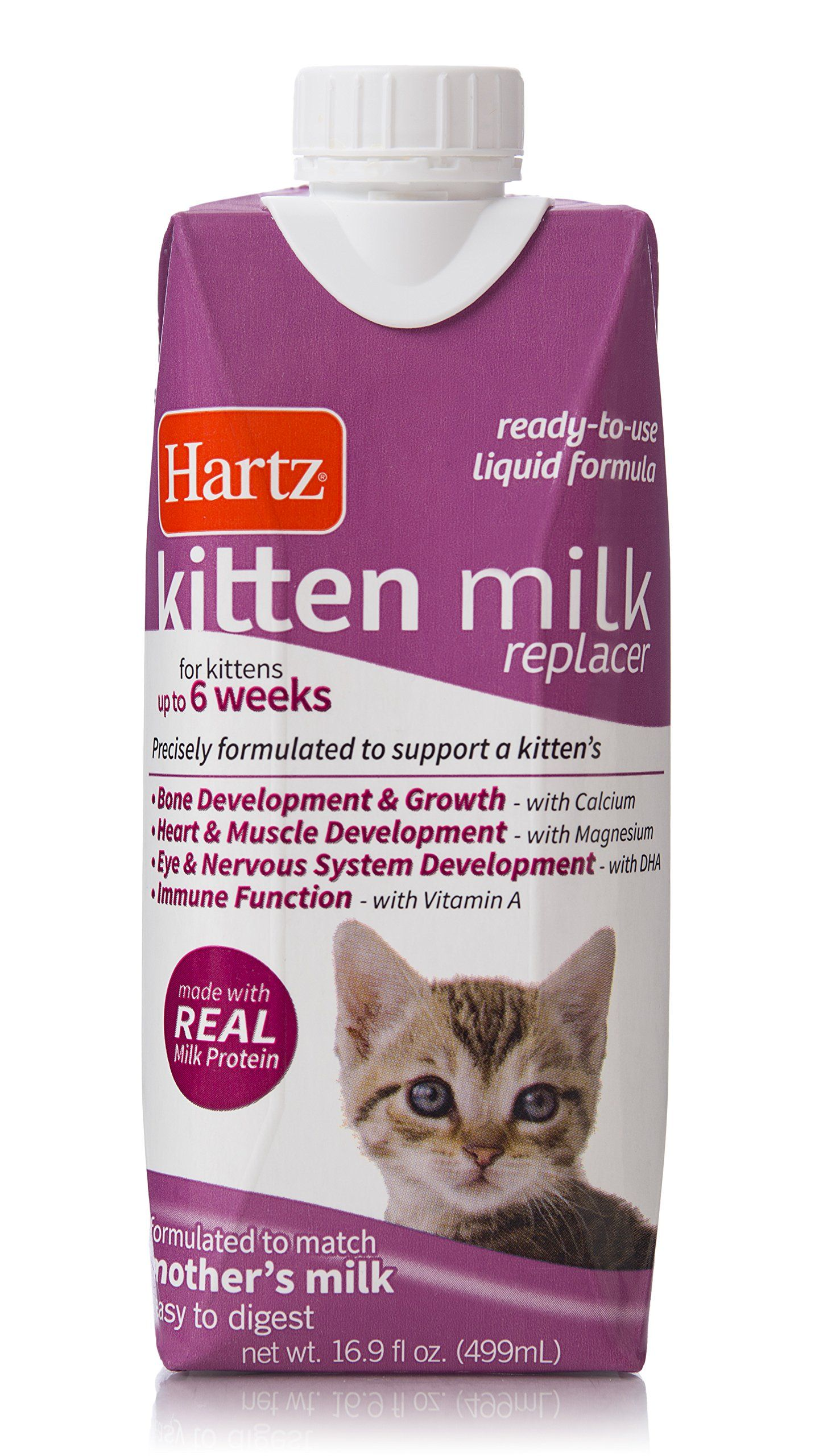 Hartz Liquid Kitten Milk Replacer Formula 16 9oz Ad Kitten Sponsored Milk Hartz Liquid Milk Protein Nutrient Cat Health