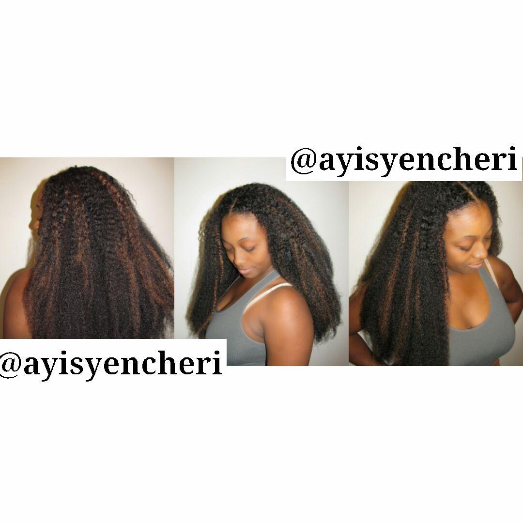 Steps to Marley Hair Crochet Braids -- The french braid foundation ...