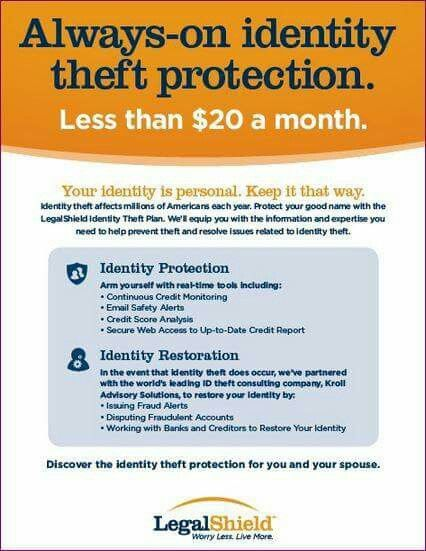 Legal Services Identity Theft Protection Restoration 24 7