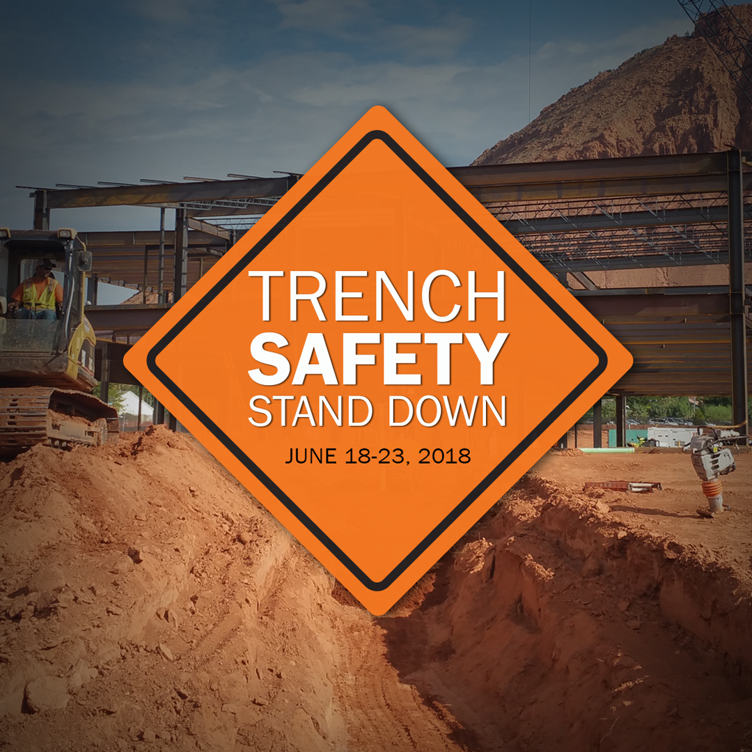 The Trench Safety Stand Down is every June. Increase