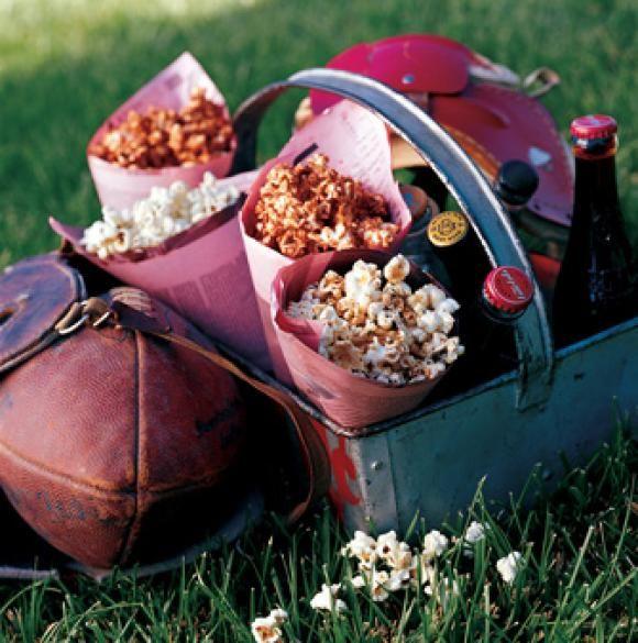basil parmesan popcorn